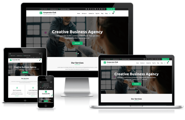 Best WordPress theme for the corporate website – Corporate Club
