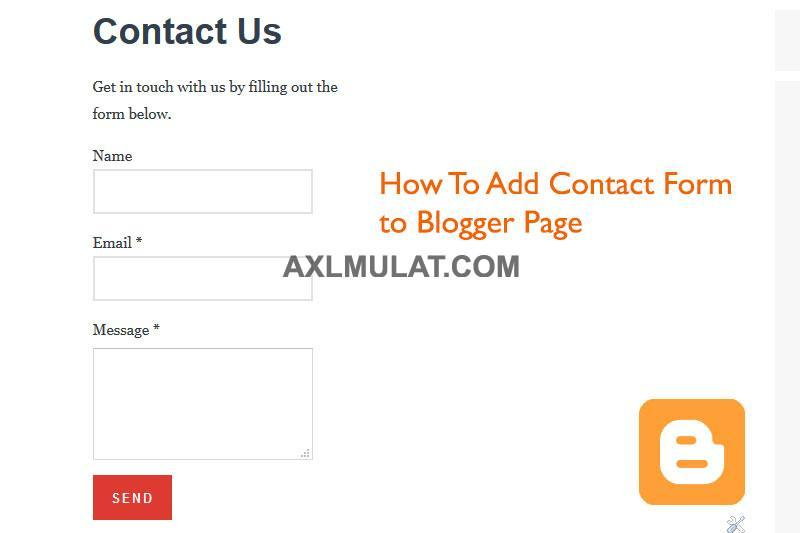 How to Add Contact Form in Blogger Blog Page