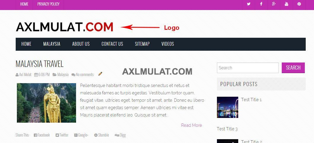 How to Add logo in blogger blog header