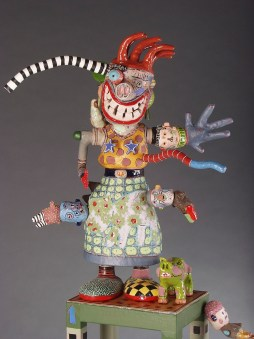 Witchy-Woman, 2004, Terracotta Glaze and Mixed Media