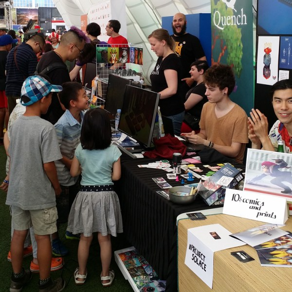 Kids playing Quench at Bit Bazaar 6