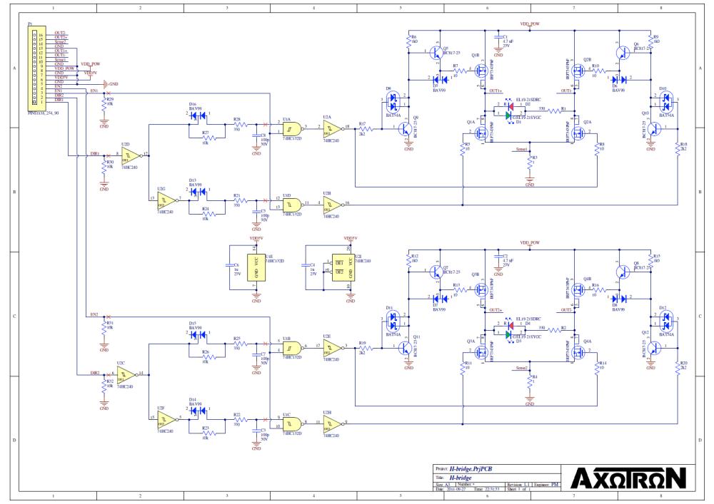 medium resolution of timing circuitry figure 4 schematic diagram of complete dual h bridge