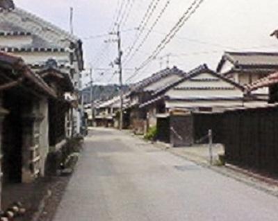 吉良川町の町並み。