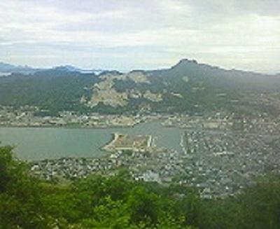 屋島から壇ノ浦を望む。