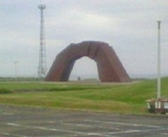 四島(しま)のかけ橋の像