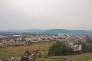ワイン城から池田町を見下ろす。(2014旅から転用)