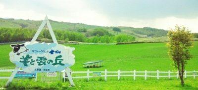 羊と雲の丘。