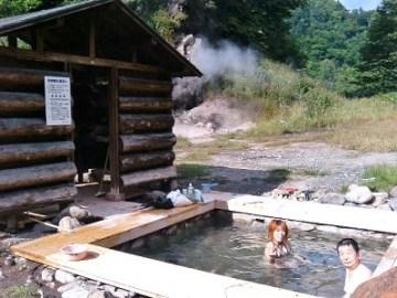 ヌプントムラウシ温泉入浴ちう。