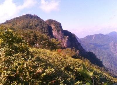 芦別岳登山ちう。