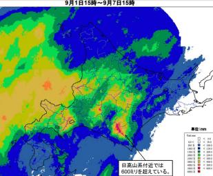 144時間(6日間)積算雨量