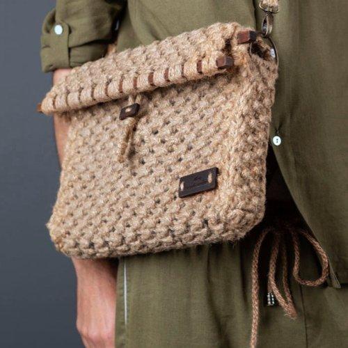 Hessian Sling Bag | Hand Woven | Utility Laptop Bag