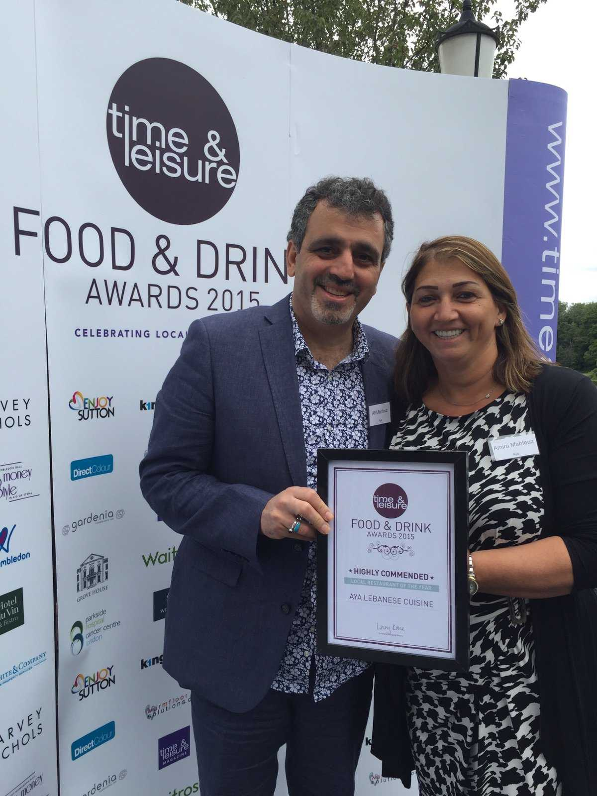 Time & Leisure Food Awards 2015