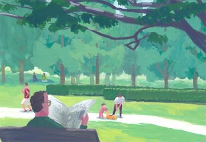 公園 男性