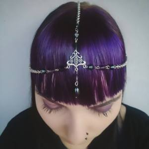 Ayame Designs handcrafted beaded circlet / head chain
