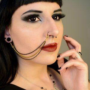 Ayame Designs handcrafted nose to ear chain