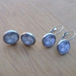 Ayame Designs stainless steel full moon earrings