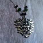 Ayame Designs handcrafted pagan green man necklace
