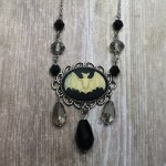 Ayame Designs handcrafted gothic beaded bat necklace
