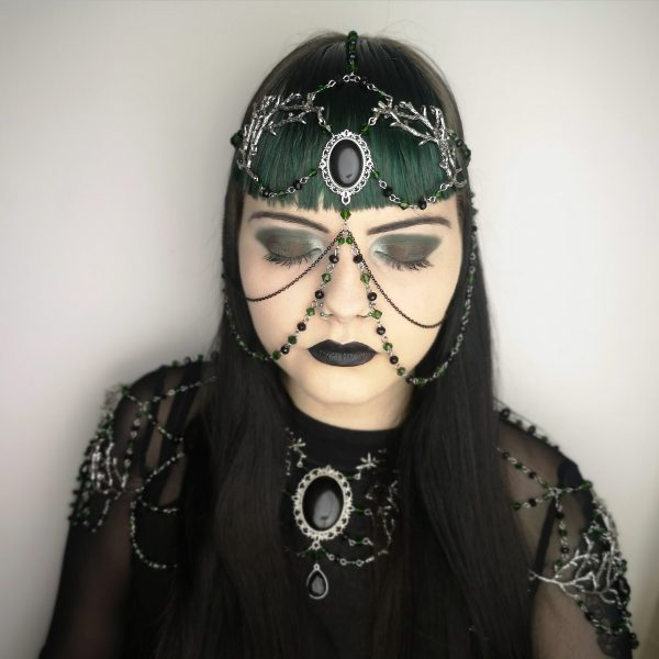 Ayame Designs handcrafted beaded pagan jewellery set