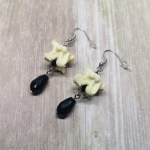 Ayame Designs handcrafted gothic ethically sourced bone earrings