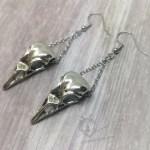 Ayame Designs handcrafted bird skull earrings
