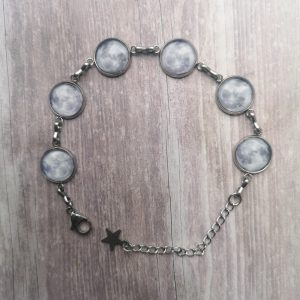 Ayame Designs handcrafted stainless steel moon bracelet