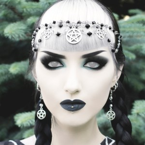 Ayame Designs handcrafted pentacle circlet / head chain