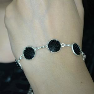 Ayame Designs handcrafted stainless steel mermaid scale bracelet