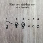 black stainless steel earring attachments