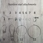 stainless steel earring attachments