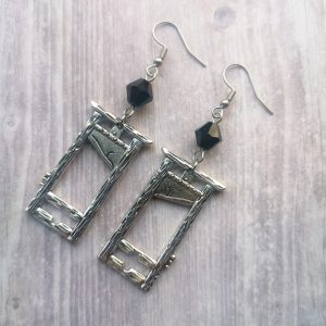 Ayame Designs handcrafted gothic guillotine earrings