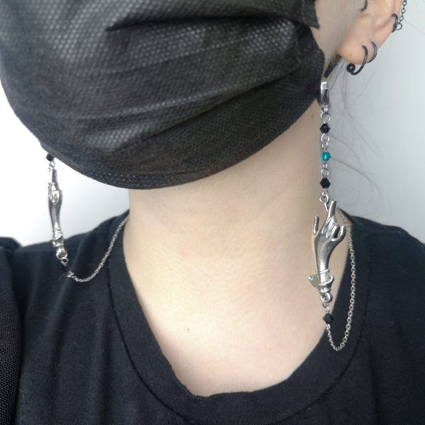 Ayame Designs handcrafted gothic mask chain