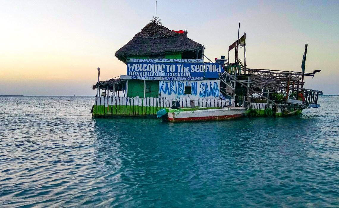 Floating restaurant zanzibar