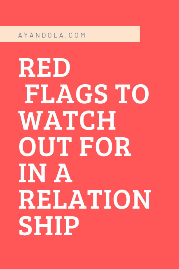 red flags to watch out for