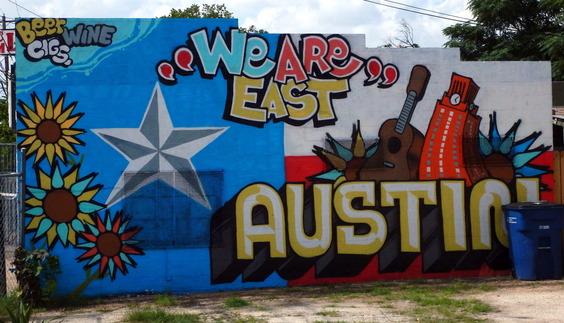 East Austin Street Art  A Yank Without A Chain