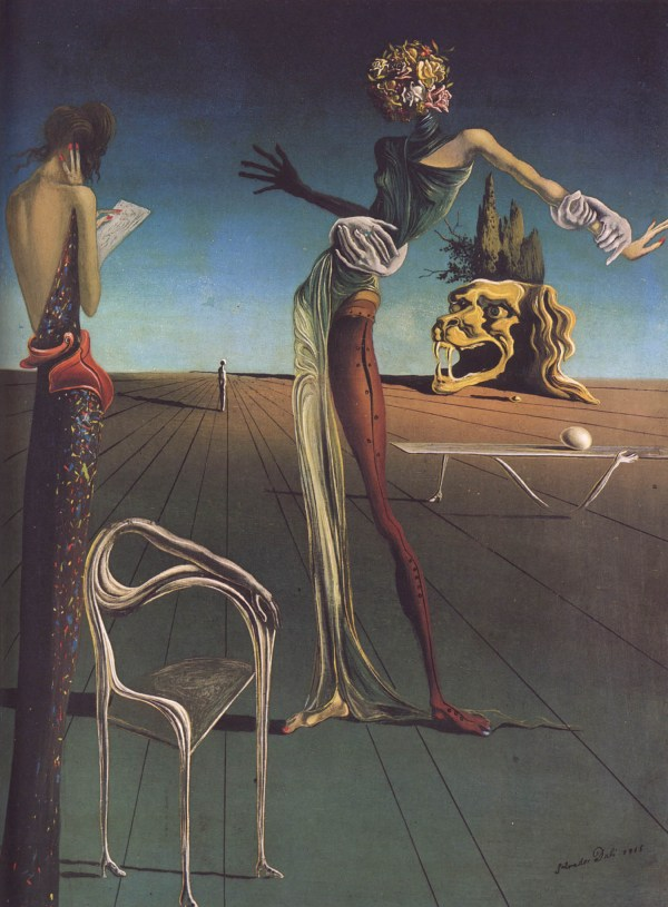 Salvador Dali Paintings Woman with Rose Head