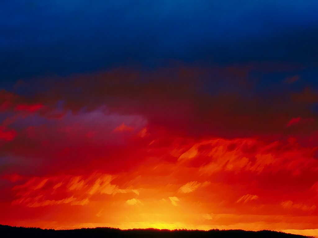Amazing Colors Brushed  Sunrises And Sunsets Wallpaper