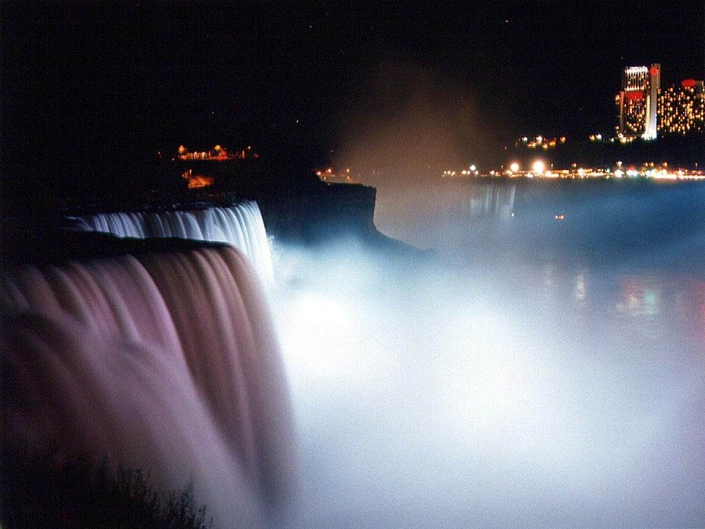 Niagara Falls Moving Wallpaper Niagara Falls Night Waterfalls Wallpaper