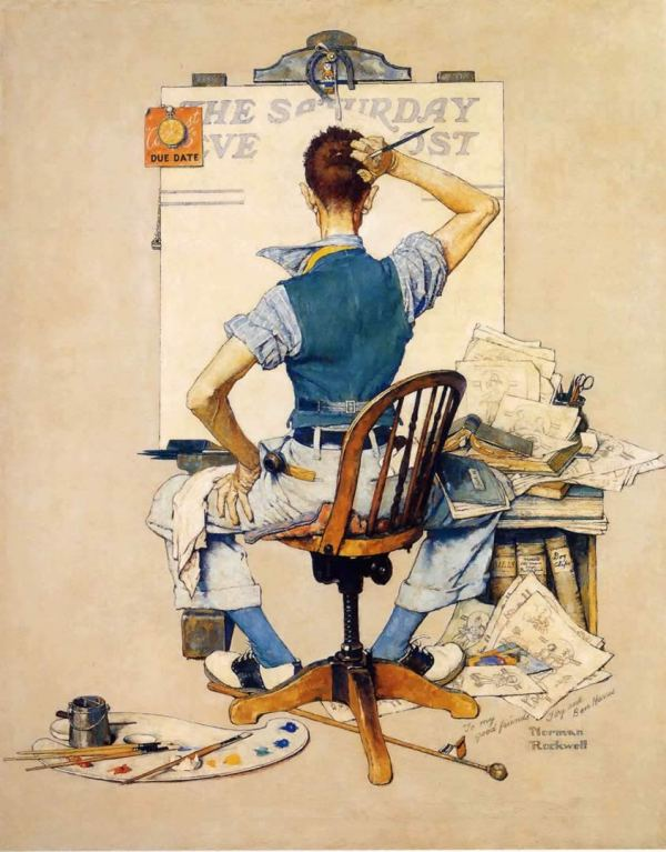 Norman Rockwell Blank Canvas