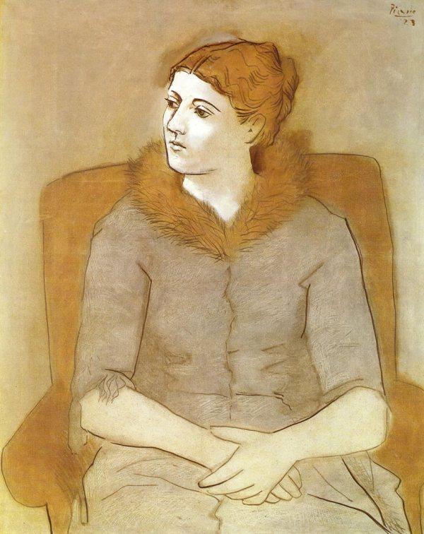 Portrait Of Olga 1923 - Pablo Picasso Wallpaper