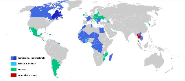 OIF フランコフォニ― 加盟国