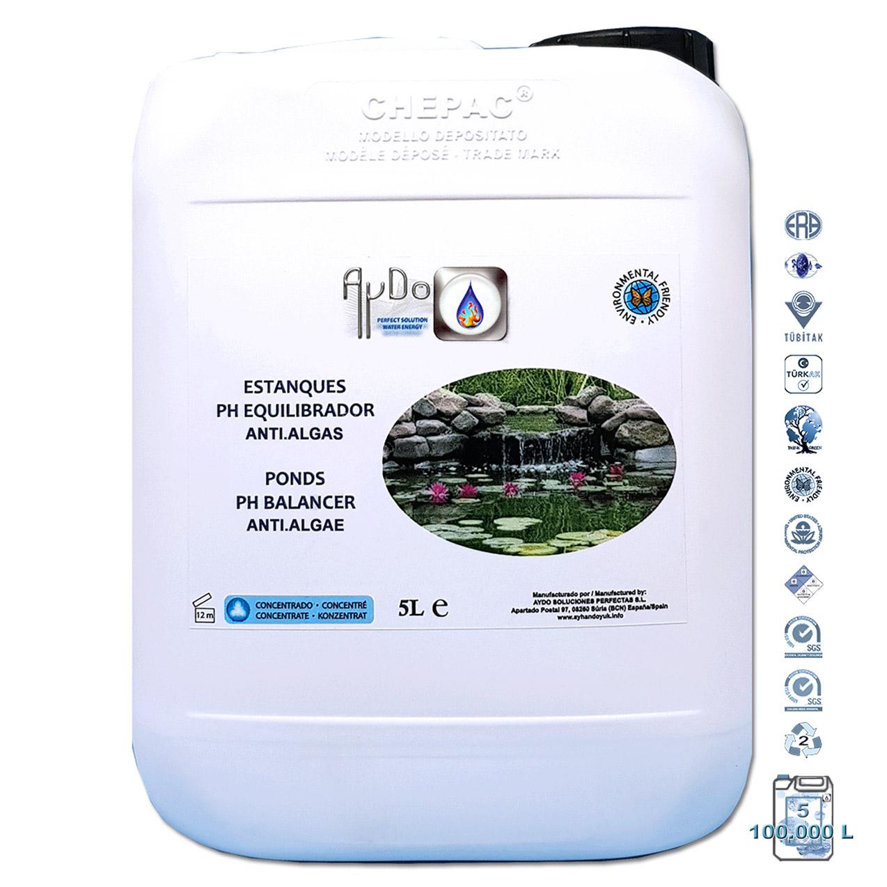 Antialgas Estanque pH Líquido Ecológico Nat 5L