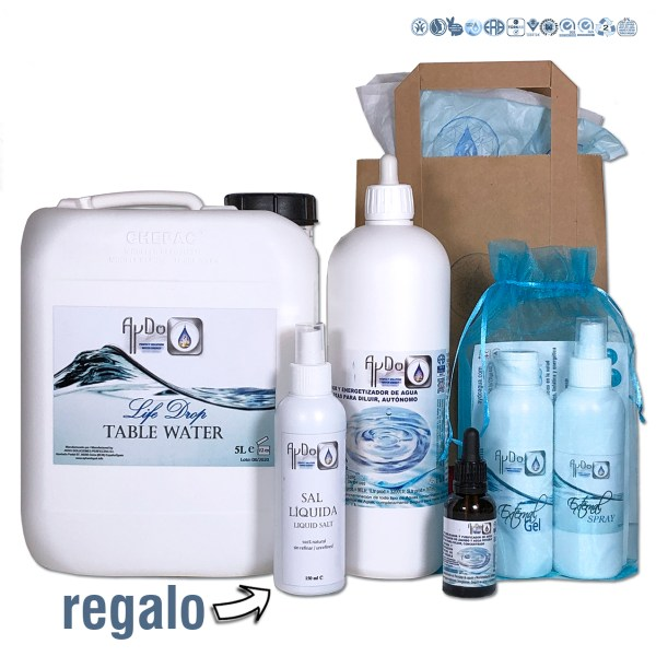 Kit Salud Detox EXPERTO eco bio Suero agua nutricional aydoagua