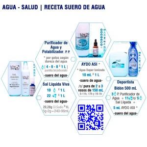 agua receta suero de agua superionizada aydoagua