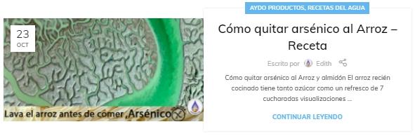 Como quitar arsenico al Arroz – Receta aydoagua.com