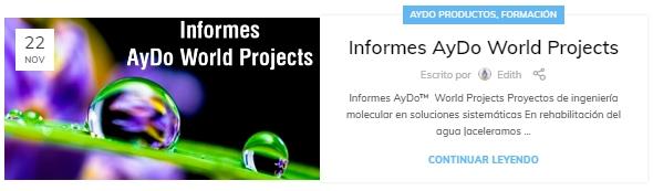 Informes AyDo World Projects-aydoagua.com