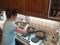 Pan frying the Frikadeller