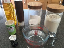 Ingredients for yovo doko fritters