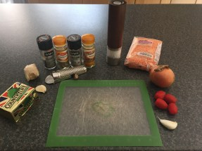 Ingredients for Misir Wot (spicy lentil stew)