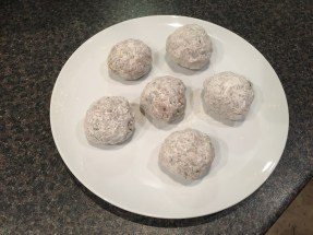 Jo jo meat balls (made with beef, green pepper, potato and egg)